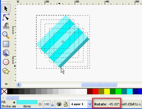 Inkscape diagonal lines