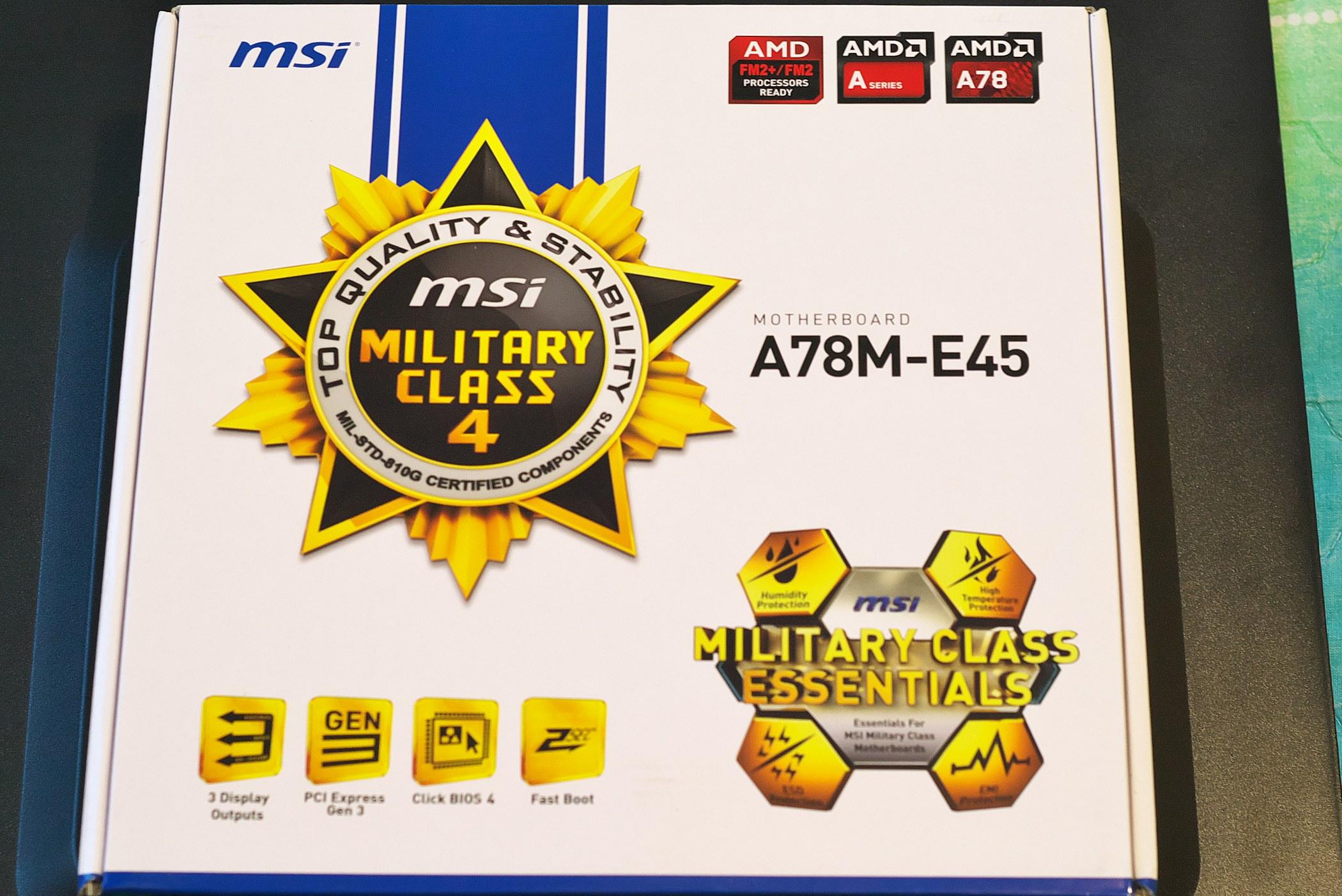 MSI A78m-E45