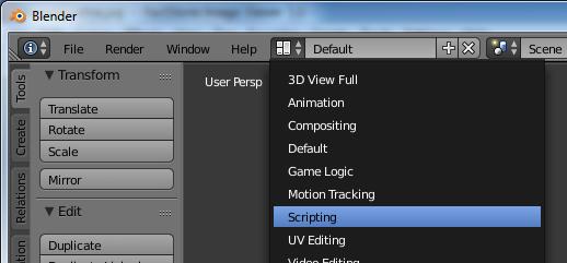 Blender scripting