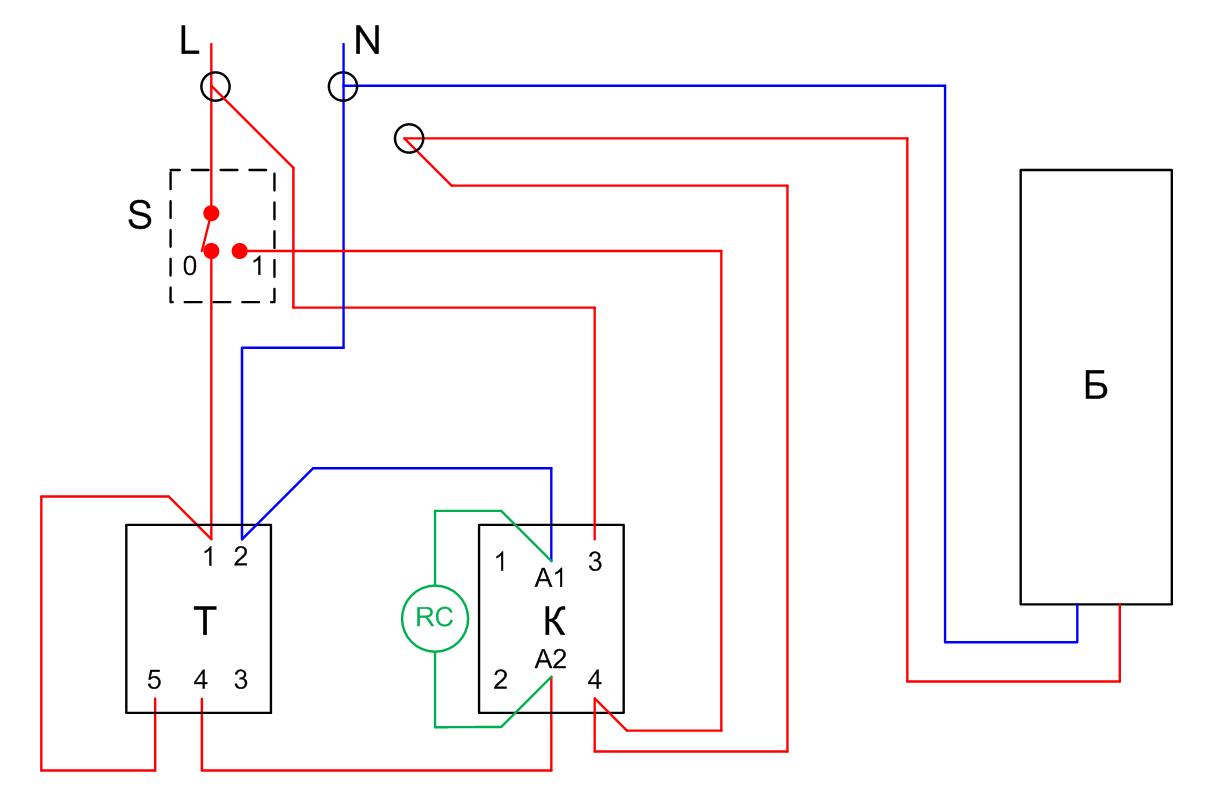 Бойлер с таймер електрическа схема