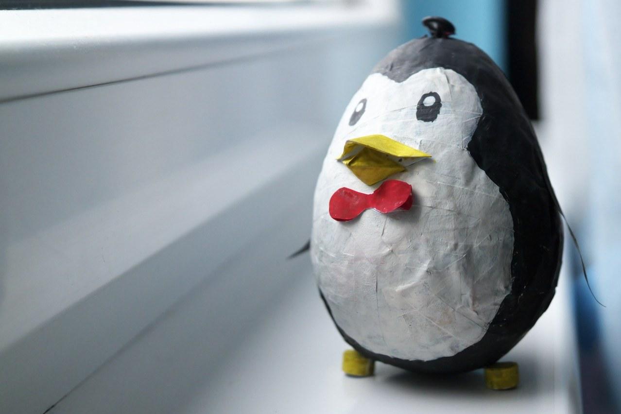 Папиемаше пингвин