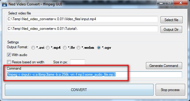 Ned video converter - mp3