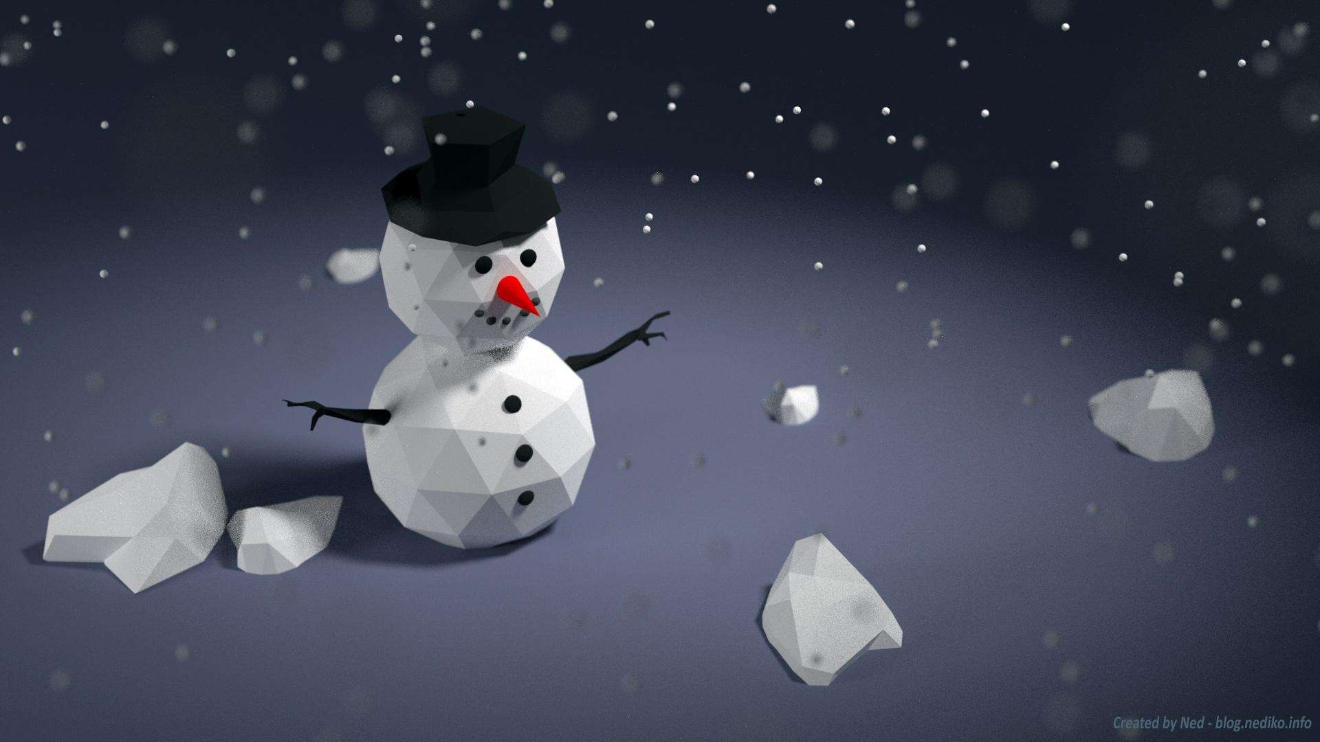 Blender 3D - snowman