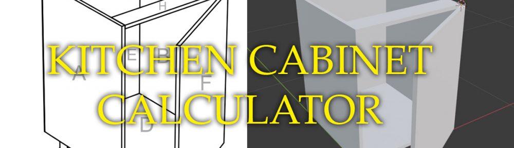 Kitchen cabinet calculator
